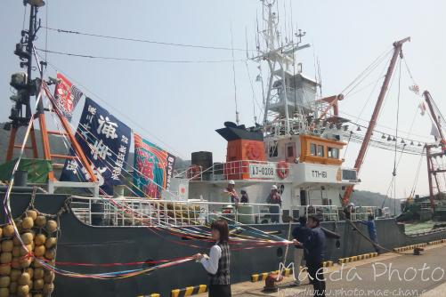 境水道で船団出港2012画像2