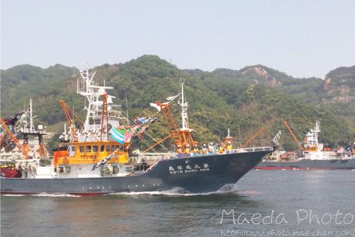 境水道で船団出港2012画像6