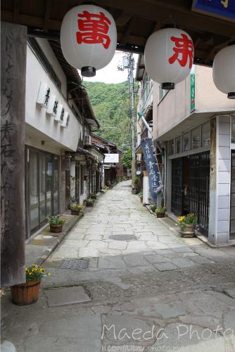 美保神社横の青石畳通り画像1
