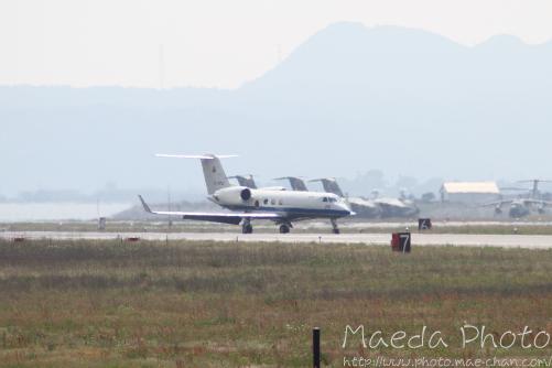 美保基地航空祭前日に着陸した飛行機画像1
