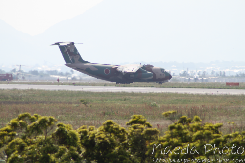 美保基地航空祭前日に着陸した飛行機画像2