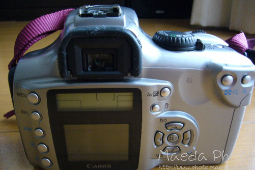 Canon EOS Kiss Digital後面