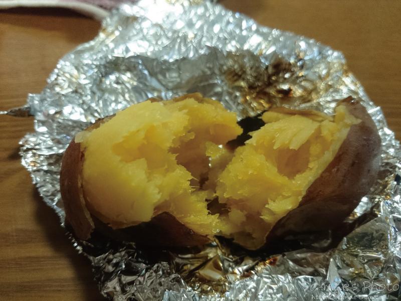 ストーブで焼き芋画像3
