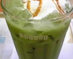 ドトールコーヒーショップ境港店のアイス抹茶黒糖ラテ画像