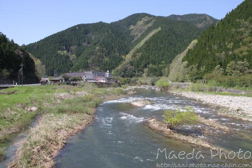 日野川と山々画像