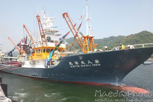 境水道で船団出港2012画像4