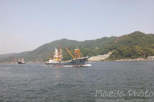 境水道で船団出港2012画像5