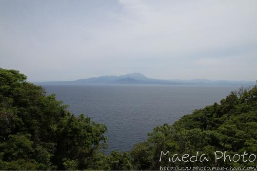 地蔵崎からの霞んだ大山画像2