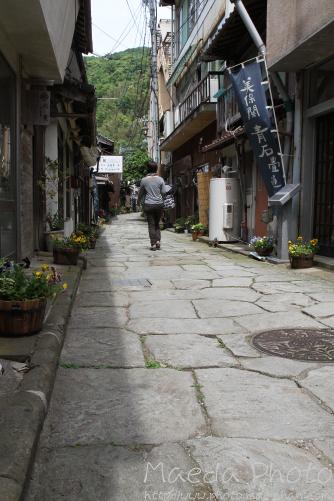 美保神社横の青石畳通り画像2