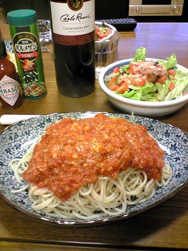トマトとにんにくのスパゲティ画像