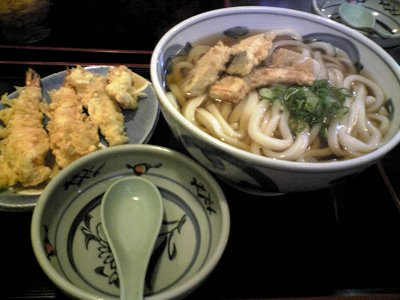米子市長寿庵の天ぷらうどん画像